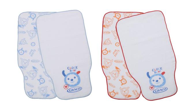 Graco - 純棉印花紗布吸汗巾2入