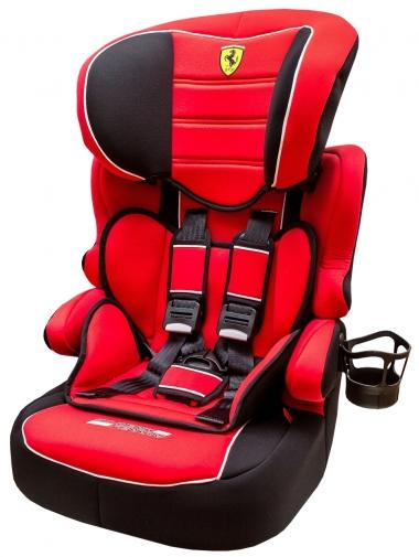 【淘氣寶寶】2016年新款 法國 Ferrari 法拉利 旗艦成長型汽車安全座椅 3-12歲專用(含杯架)【公司貨●法國生產製造●品質保證】