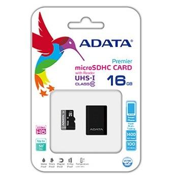 【 儲存家3C 】威剛ADATA Premier microSDHC UHS-I Class10 16GB