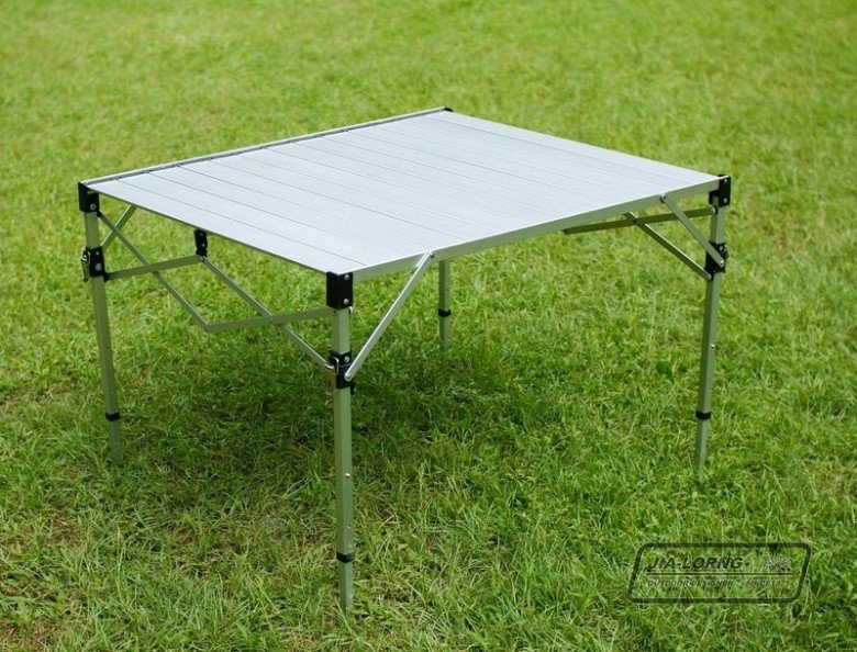 【露營趣】中和 送桌巾 台灣製造 TAB980H 鋁合金蛋捲桌 摺疊桌 休閒桌 露營桌 野餐桌 非速可搭