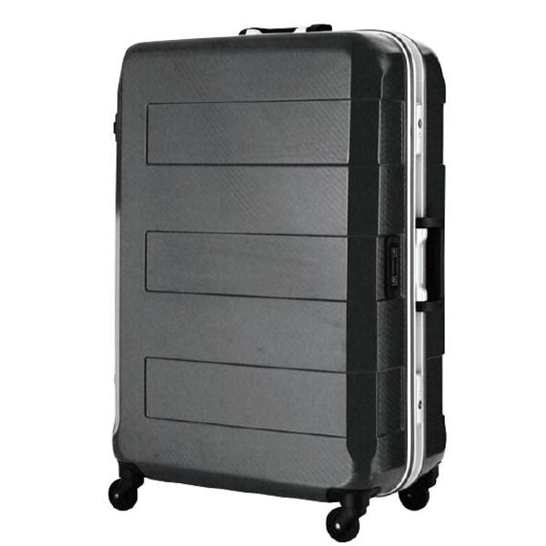 日本 LEGEND WALKER 6021-64-26吋 電子秤鋁框輕量行李箱 黑色