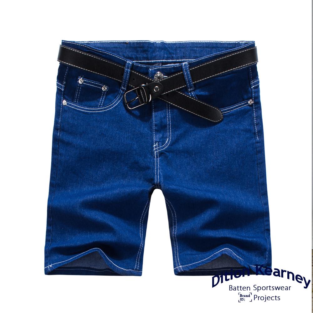 DITION SHOP 原色DENIM牛仔短褲 復古洗舊皮革 膝上 OUTDOOR