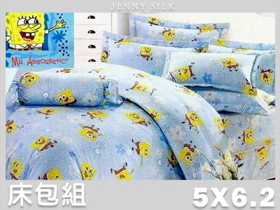 【名流寢飾家居館】海綿寶寶.100%精梳棉.標準雙人床包組.全程臺灣製造