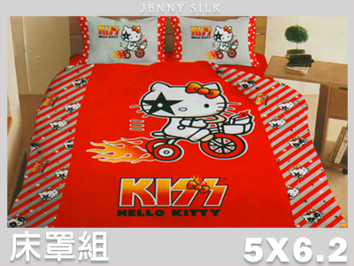 【名流寢飾家居館】熱火.Hello Kitty.標準雙人床罩組全套.全程臺灣製造