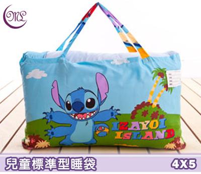 【名流寢飾家居館】史迪奇.歡樂跳躍.標準型兒童睡袋.全程臺灣製造
