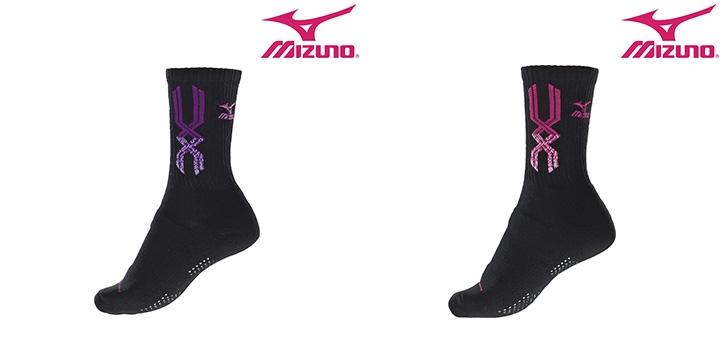 [陽光樂活]MIZUNO 美津濃 女運動厚底短襪 排球襪(兩雙不拆售) 32TX6605_ (二色可選)