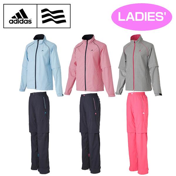 Adidas Golf 愛迪達 女款雨衣外套和褲子套裝 防水透氣