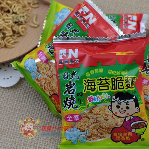 【0216零食會社】嘉南-日式岩燒海苔脆麵