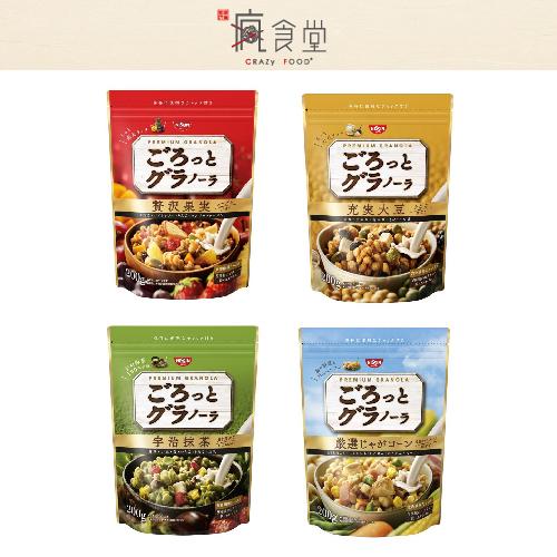 日本 Nissin 日清綜合麥片 早餐穀物麥片 宇治抹茶 / 贅澤水果果實 (200g)