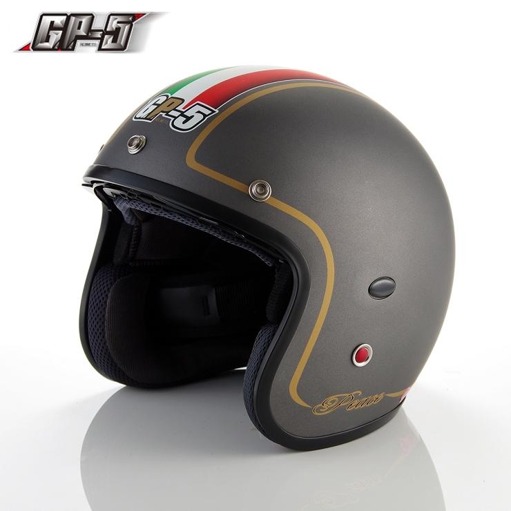 【頑騎】免運費【GP-5】雙層鏡設計 復古式安全帽 308-Italy義大利 台灣製造 共4色
