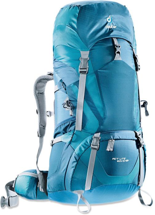 【鄉野情戶外專業】 Deuter |德國| ACT Lite 60+10 拔熱式透氣輕量背包《女款》/健行背包 登山背包/4340015 【容量60+10L】