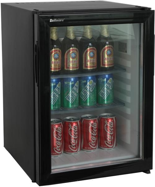 Dellware 玻璃門吸收式 40公升 無聲客房小冰箱 DW-40T 歐洲製冷技術 品質保證 安規認證 獨家3年保固