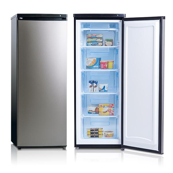 美國富及第 Frigidaire FRT-1855MZ 立式185公升冷凍櫃 黑銀◆超節能◆冷凍溫度可達-28度C