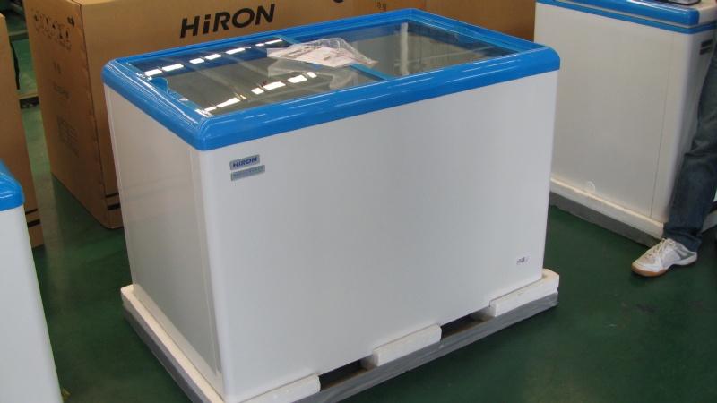 HiRON 海容 350公升 上掀式冷凍櫃 HSD-358 壁冷式聚冷系統冰箱,省電功率 推拉式透明強化玻璃,易發揮儲物空間,容量大取物便利