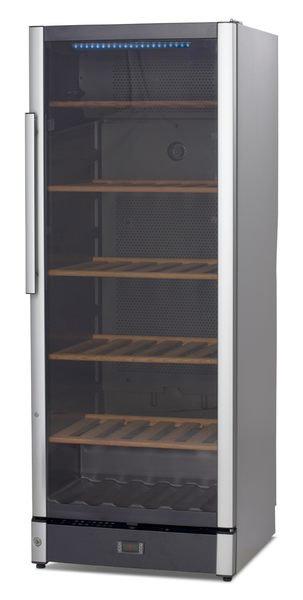 丹麥 VESTFROST 恆溫儲酒冰櫃 146瓶 W155 LED溫度顯示 雙溫度顯示器 煙燻色玻璃抗UV