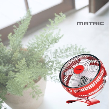 日本松木 MATRIC Magic 魔幻紅8吋金屬扇 MG-AF0801D ★純銅線馬達,更耐用且穩定