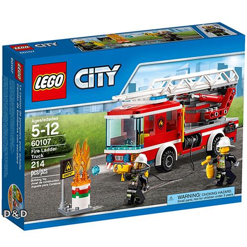 樂高積木LEGO《 LT60107 》2016 年 CITY 城市系列 - 雲梯消防車