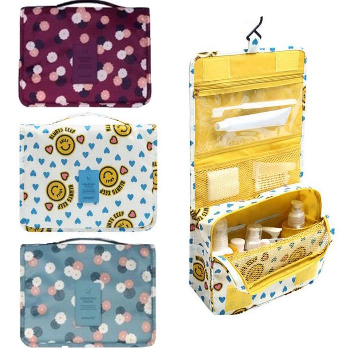 tangyizi輕鬆購【DS053】旅行防水吊掛式收納包收納袋.行李袋收納包 手提包 行李箱整理包 化妝包 萬用包 盥洗包