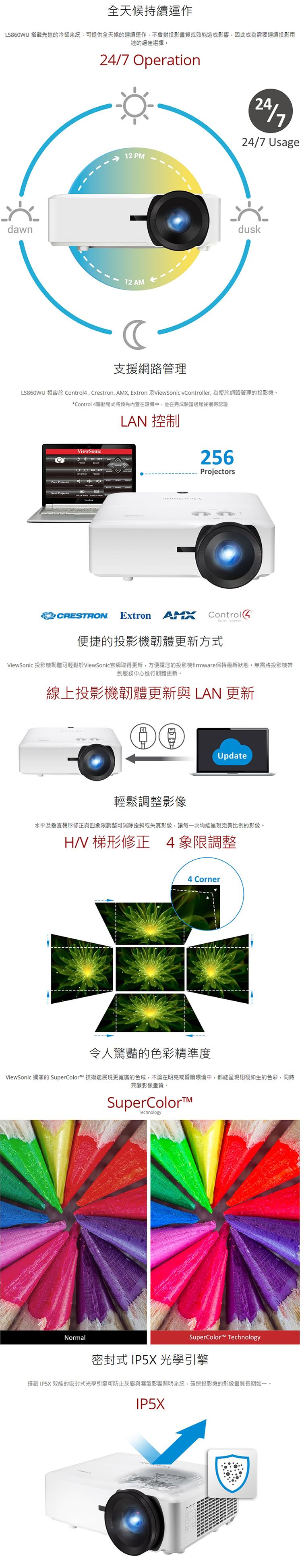 【妮可3C】 ViewSonic LS860WU 5000流明 WUXGA短焦高亮度雷射投影機  原廠保固3年