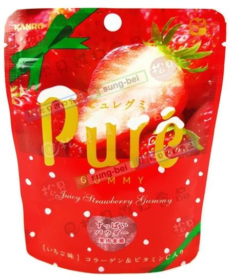 甘樂Pure草莓軟糖56g【4901351058817】