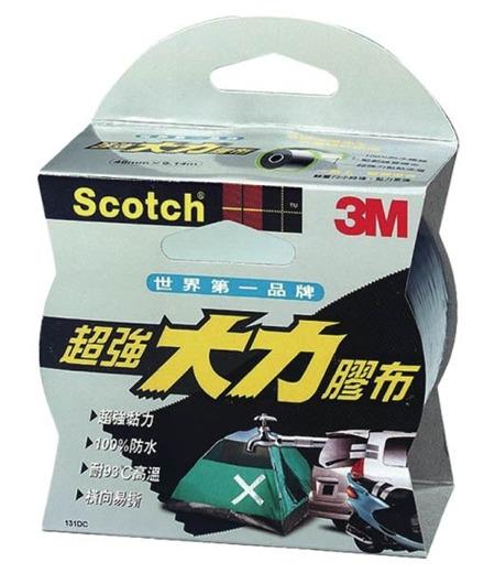 3M 超強大力膠布《黑色》/大力膠帶 修繕 固定 修補/K131N 【4.8 x 0.91 cm】