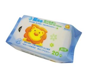 台灣【Simba 小獅王】嬰兒潔膚濕巾20抽