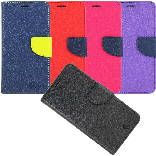 拼接雙色款 Sony Xperia X Performance / PP10 磁扣側掀(立架式)皮套