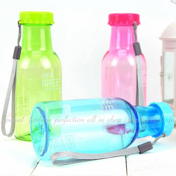 摔不破汽水瓶-透明款350ML 隨手杯 汽水瓶 創意隨行杯 水杯 水壺 冷水壺【DC354】◎123便利屋◎
