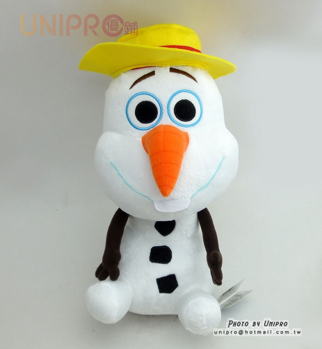 【UNIPRO】冰雪奇緣 FROZEN Q版戴帽 Olaf 12吋 絨毛娃娃 玩偶 吊飾 迪士尼正版授權