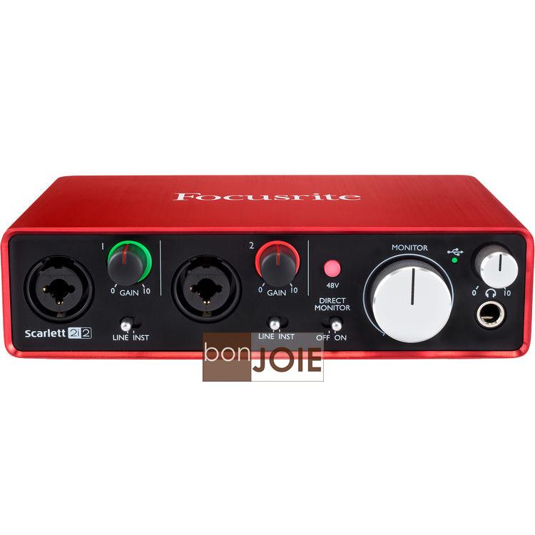 ::bonJOIE:: 美國進口 第二代 Focusrite Scarlett 2i2 (2nd Gen) USB 錄音介面 (全新盒裝) 2in/2out Audio Interface 錄音盒 錄..
