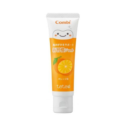 ★衛立兒生活館★康貝 Combi teteo幼童含氟牙膏30g(橘子)