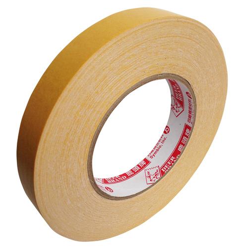 【鹿頭牌 雙面膠帶】DS17B萬黏雙面布膠帶 18mm×25M(6支/卷)