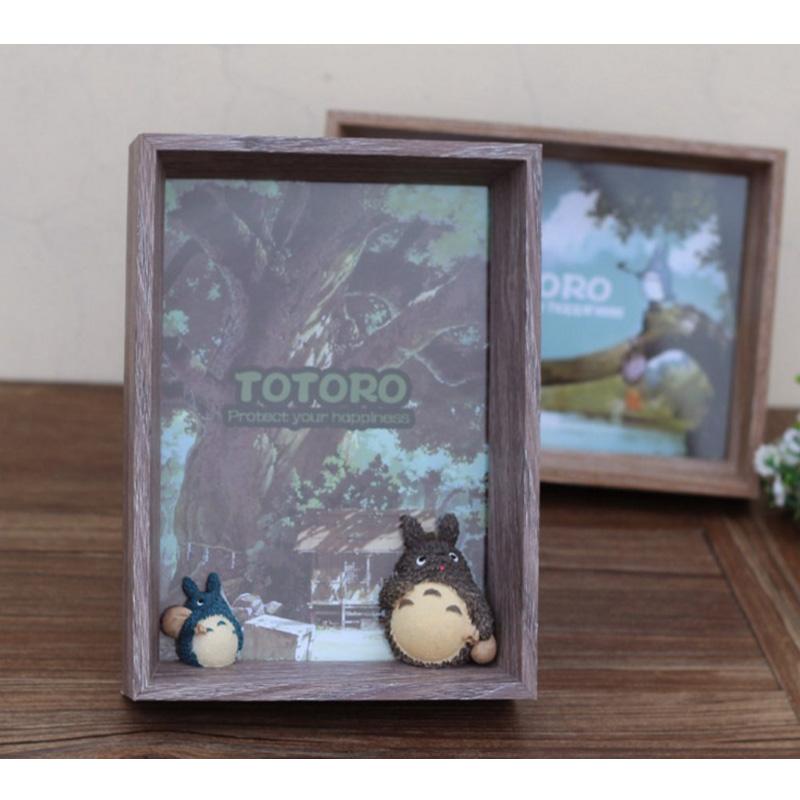 龍貓相框相架 卡通守護神樹脂工藝品擺件 生日禮物 情人節 交換禮物 宮崎駿豆豆龍 貓公車 TOTORO