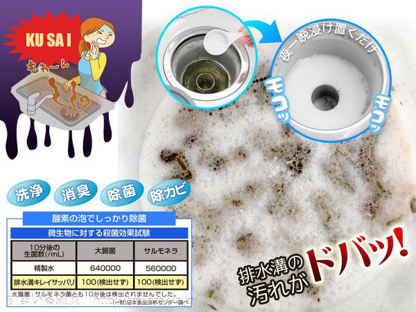 日本製酵素水管清潔劑廚房浴室排水溝毛髮洗碗機排水孔775331