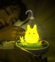 童話景觀超萌小精靈LED床燈/小夜燈-快樂黃