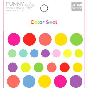 『樂魔派』韓國進口彩色圓圈貼紙組 六張一組 拍立得底片相片相本日記卡片裝飾
