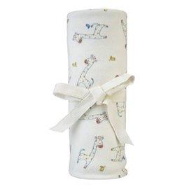 【好優Hoyo】美國【Under the Nile】有機棉嬰兒棉絨包巾蓋被 - 長頸鹿花色