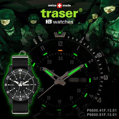 Traser 瑞士軍錶/自體發光/TYPE 6 MIL-G 美軍制式軍錶 100325(P6600.91F.13.01) 橡皮錶帶版 瑞士製造