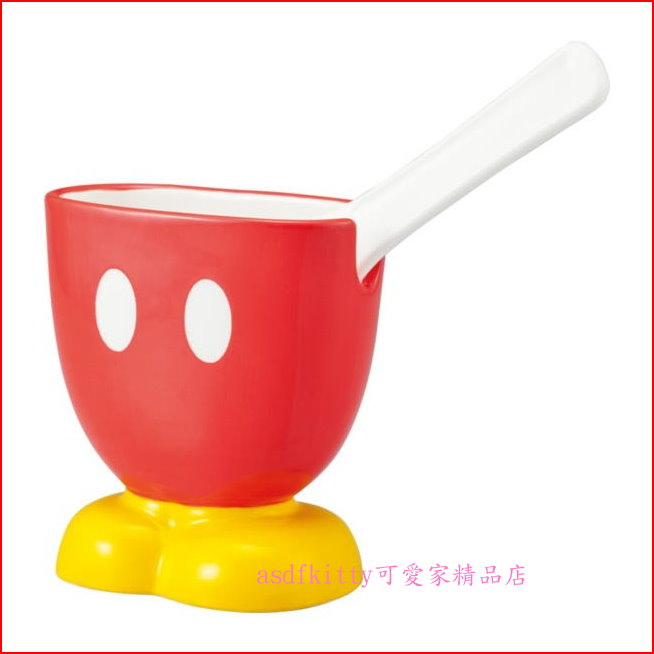 asdfkitty可愛家☆迪士尼米奇直立式陶瓷飯匙架/飯匙座-日本正版商品