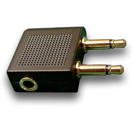 志達電子 EPEL013 ER原廠飛機轉接頭 鍍金 3.5mm 耳機接頭轉換成到飛機轉接頭 SONY AKG 鐵三角