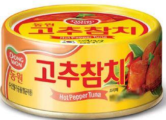【韓新館】DONGWON 韓國鮪魚罐頭(辣味)