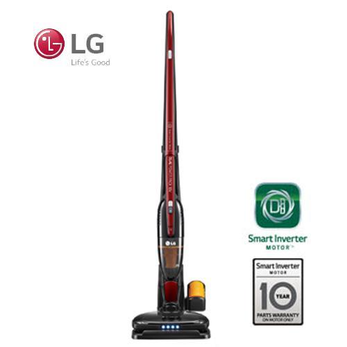 LG 樂金 CORDZERO 直立式無線吸塵器 VS8401SCW 智慧變頻馬達 (亮麗紅)