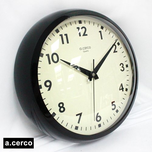 【a.cerco】 普普風經典造型時鐘(黑色)