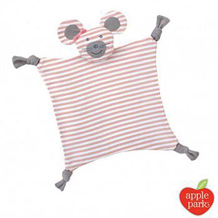 【悅兒樂婦幼用品?】美國 Apple Park【農場好朋友系列】有機棉安撫巾-芭蕾鼠娘