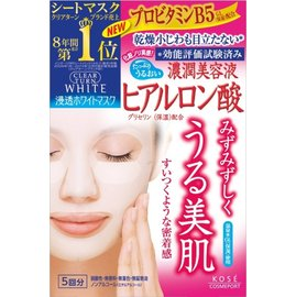KOSE 濃潤美容液保濕面膜5回分 ( 玻尿酸 )