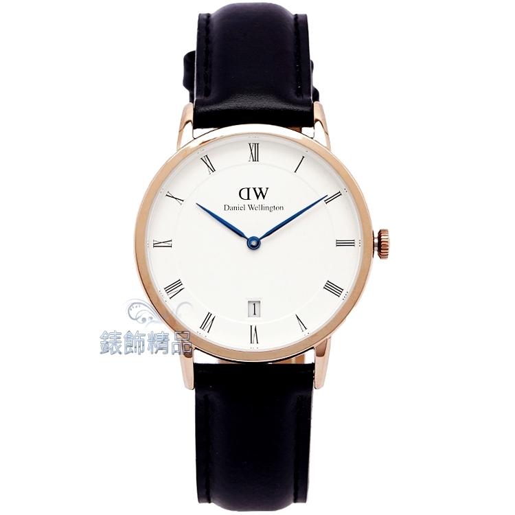 【錶飾精品】現貨Daniel Wellington瑞典DW手錶 DW00100092/1131DW Dapper Sheffield 34mm 玫瑰金 女錶 全新原廠正品