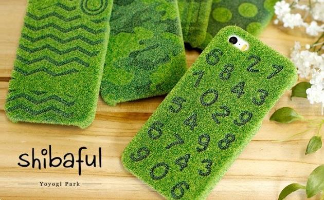 【This-This】日本 Shibaful 代代木公園 iphone 6/ 6s / 6 plus/ 6s plus草皮 手機殼 (數字款)