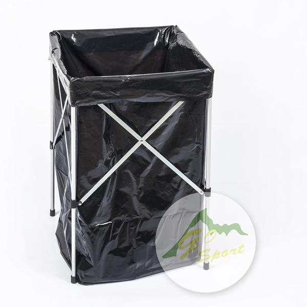 【露營趣】中和 GO SPORT 45271 鐵製垃圾架 附5pcs垃圾袋 摺疊垃圾架 垃圾桶