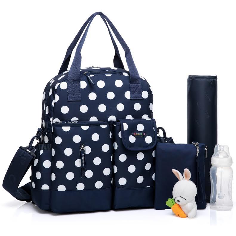 媽媽包/後背包/手提包/側背包/肩背包Colorland 多功能一包四用加大容量媽媽包【JoyBaby】