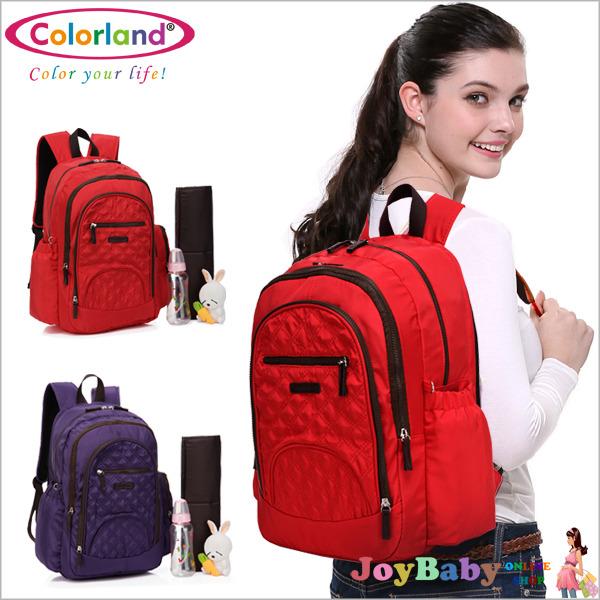 指定商品-媽媽包/後背包/空氣包/多功能平板筆電多收納Colorland高雅格紋媽咪包【JoyBaby】